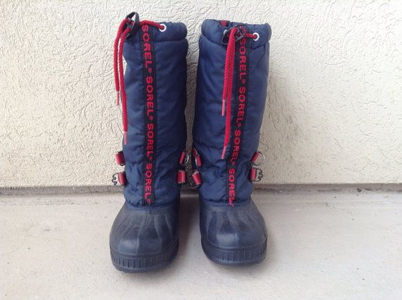 0a8f2ee2e4b Vtg Retro 80s 90s WOMENS SOREL WINTER Snow boots 6.5