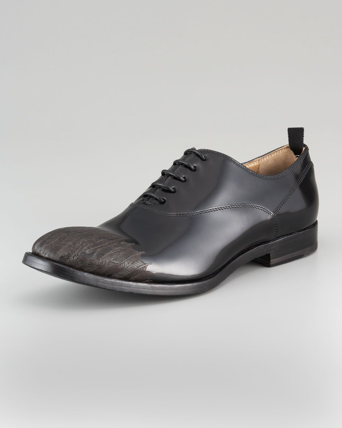 Alexander McQueen Etched Feather Lace-Up. Shoes For MenMen s ... 3c5234007ed78
