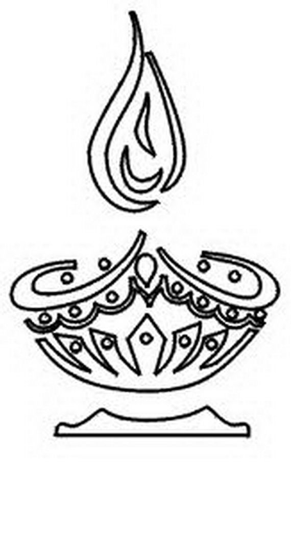 Diwali Coloring Pages (14) | craftoholic | Pinterest | Diwali ...