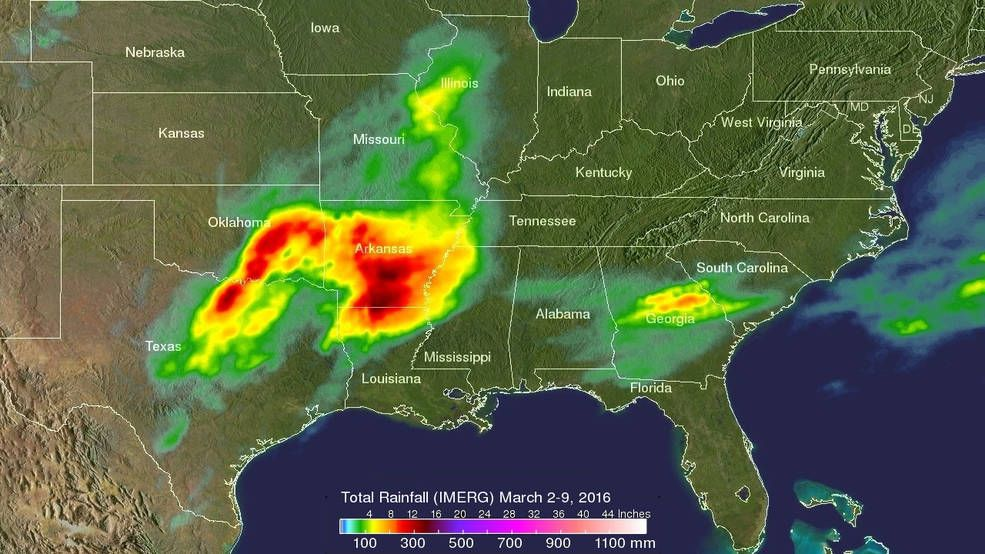 GPM precipitation data was compiled over the
