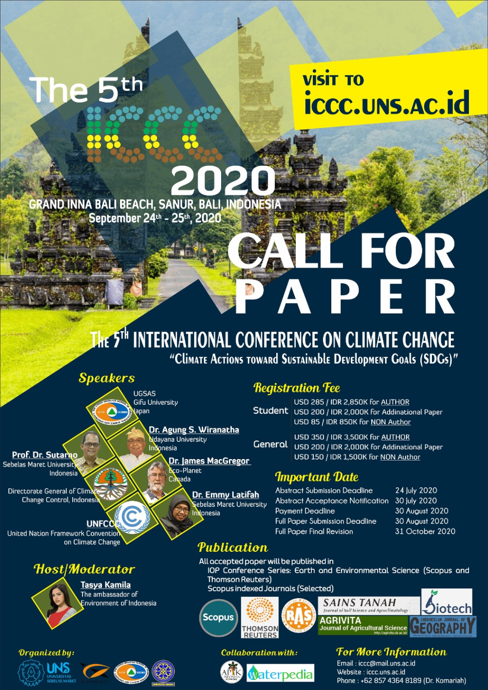 Call For Papers For The 5th International Conference On Climate Change 2020 Climateaction Climatechange Climate Cli Climate Action Climate Change Climates