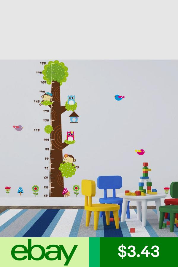 Color : Tree HuaHong Tabla de Crecimiento Infantil Gr/áfica de Altura Pegatinas Pared para Ni/ñas Beb/és Decoraci/ón Habitaci/ón Medidor Ni/ños Pared