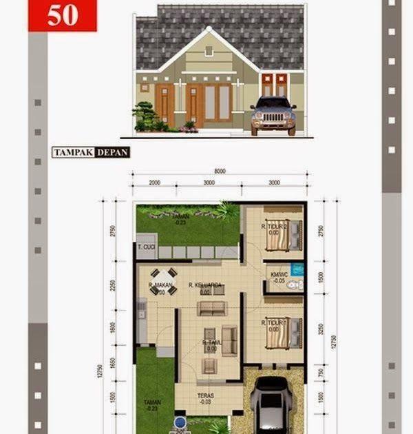 Gambar Desain Rumah Minimalis Type 45 in 2020 | Floor ...