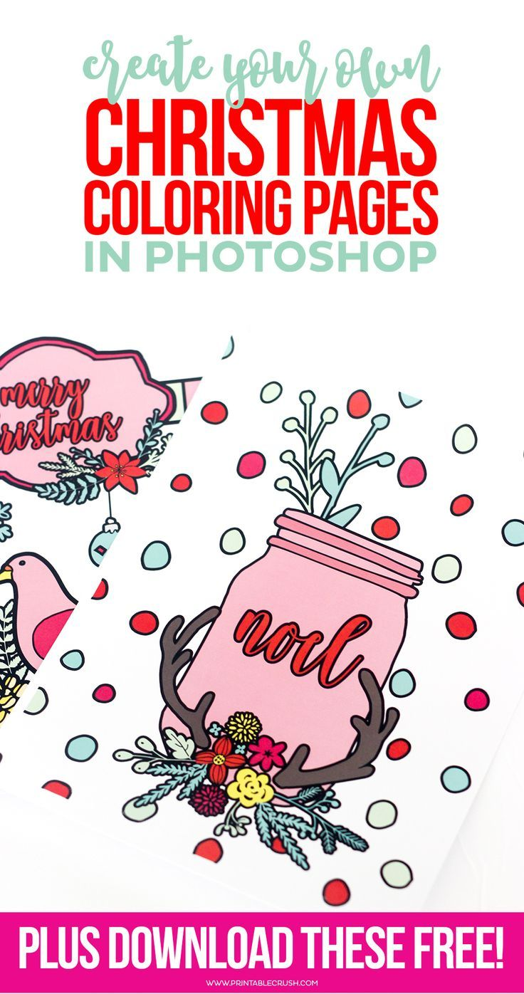 Learn to Create Christmas Coloring Pages in Photoshop in this ...