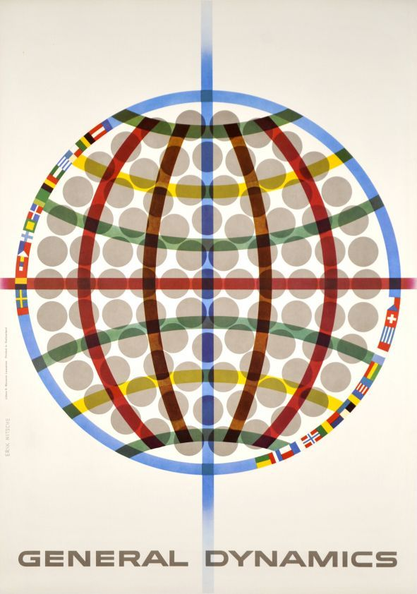General Dynamics - Triga around the world, General Atomic, Erik Nitsche, 1960