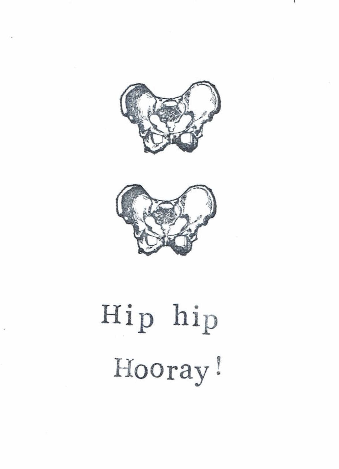 hip hip hooray card | funny skeleton happy halloween medical school