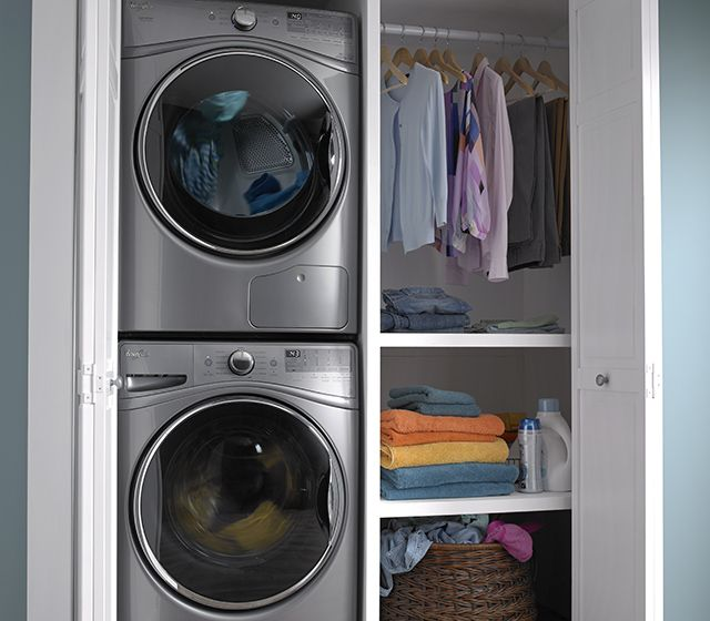 What Is A Closet Depth Washer Fred S Appliance Washer Dryer Laundry Room Laundry Room Closet Laundry Room Storage
