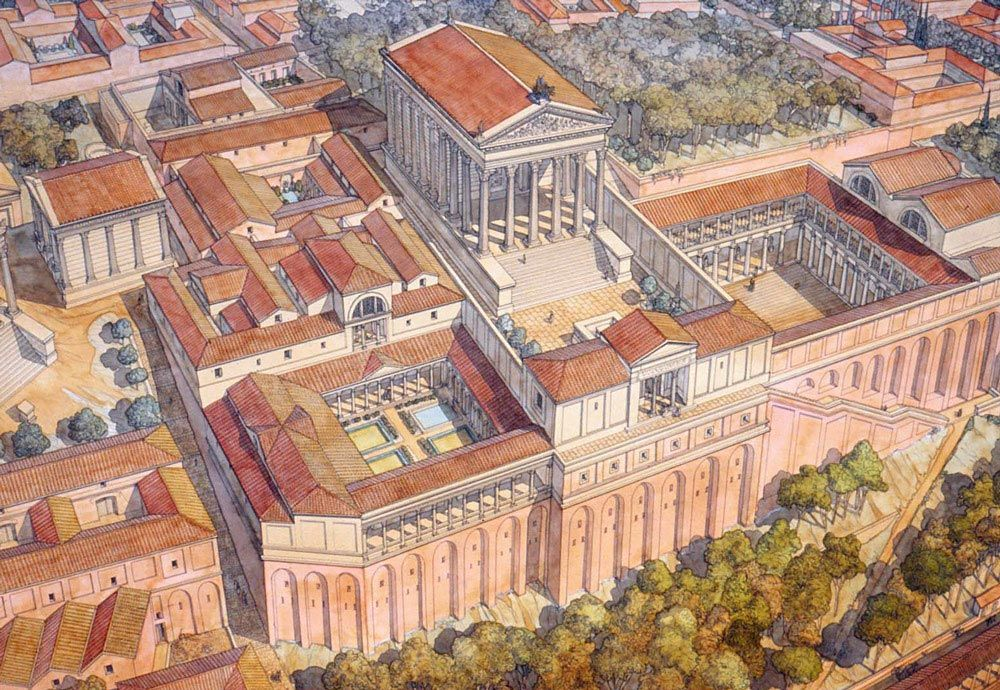 Italy Roma Rome Palatine The House Of Augustus And Livia