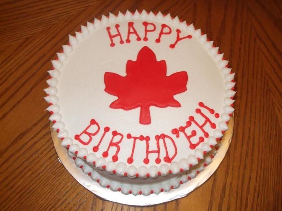 Canadian maple leaf Happy Birthd'eh! on Cake Central