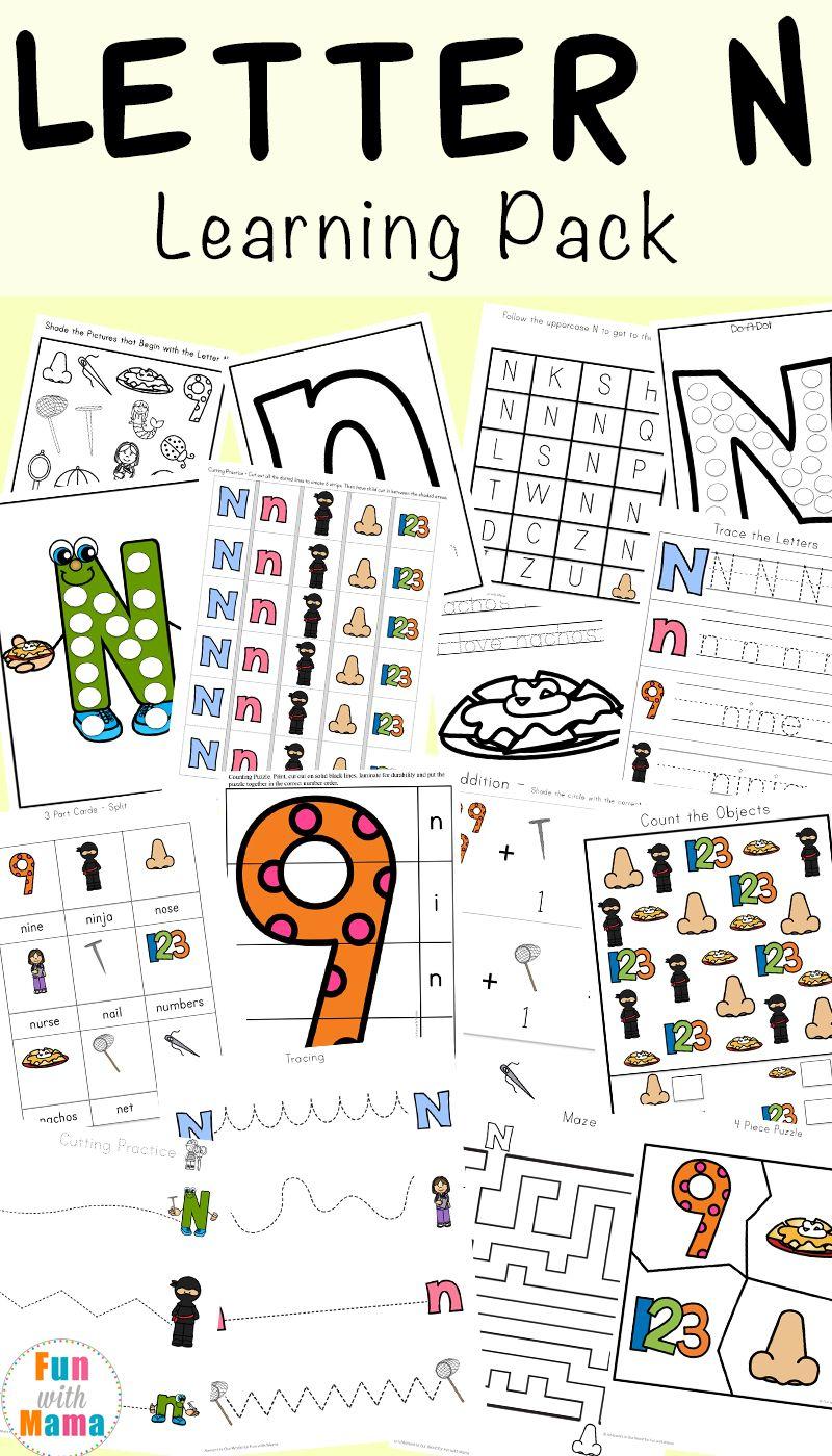 Letter N Worksheets Letter n crafts, Letter n activities