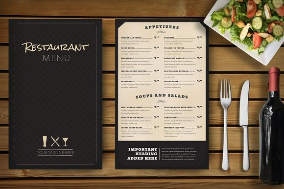 Restaurant Menu Mockup by Nathan Knight Design on Creative Market - free drink menu template