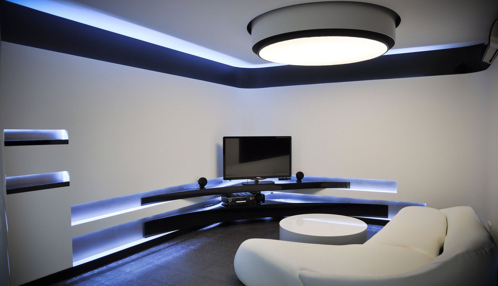The Living Room In The High Tech Style Con Imagenes Casas
