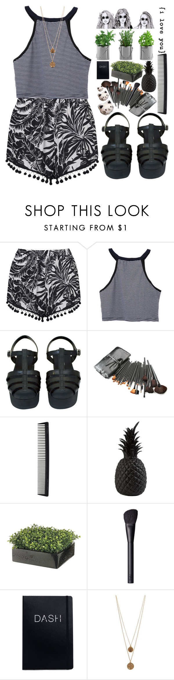 """""""#149"""" by flowersblood ❤ liked on Polyvore featuring Topshop, Chanel, T3, Pols Potten, NARS Cosmetics, Bee Charming and Too Late"""