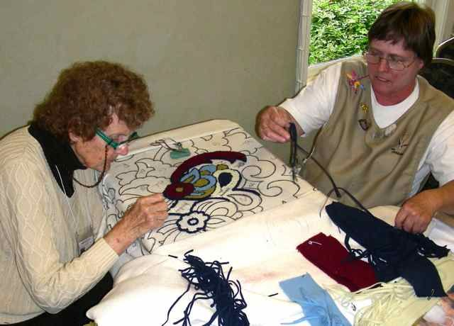 In Memory Of The Late Great Jane Olson On Left Who So Loved Rug Hooking