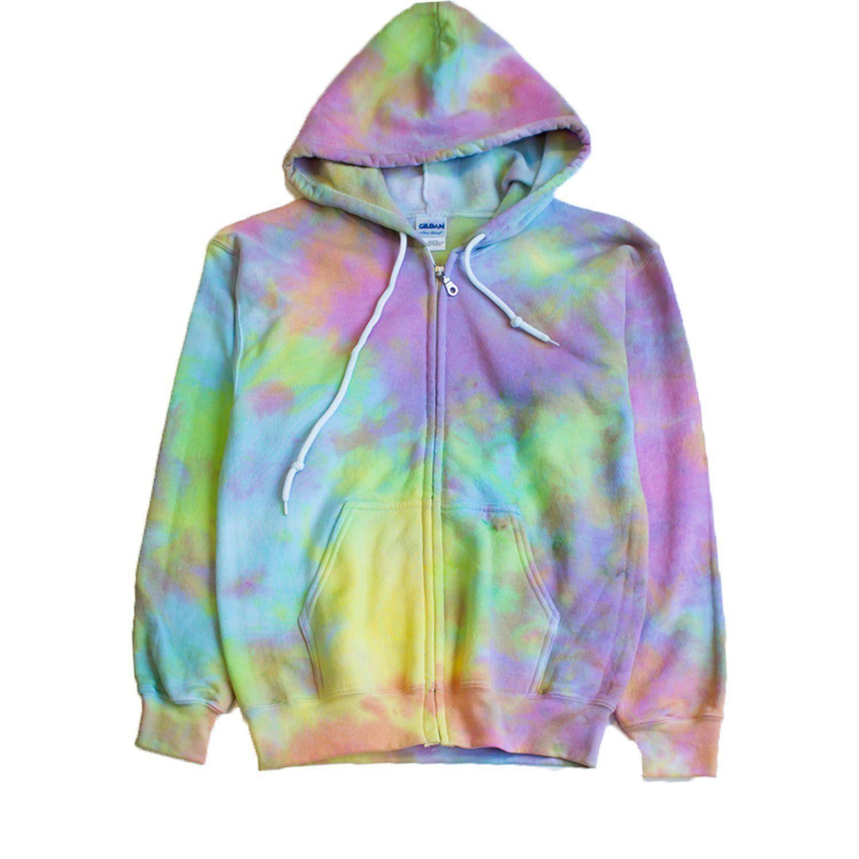 Pastel Goth Tie Dye Zip Hoodie Unisex Sweatshirt Tie Dye T Shirts Tie Dye Dye T Shirt [ 1500 x 1500 Pixel ]