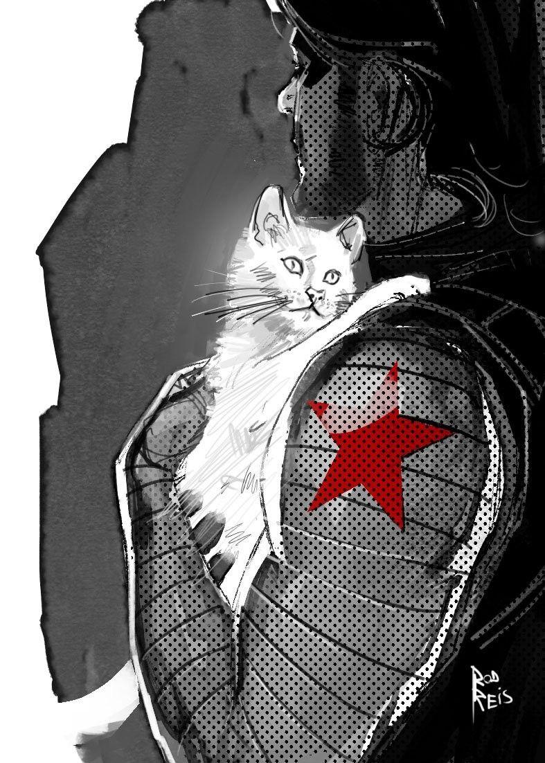 Alpine The Cat I Love The Idea So Much Bucky Barnes Fanart Bucky Barnes Bucky Barnes Winter Soldier