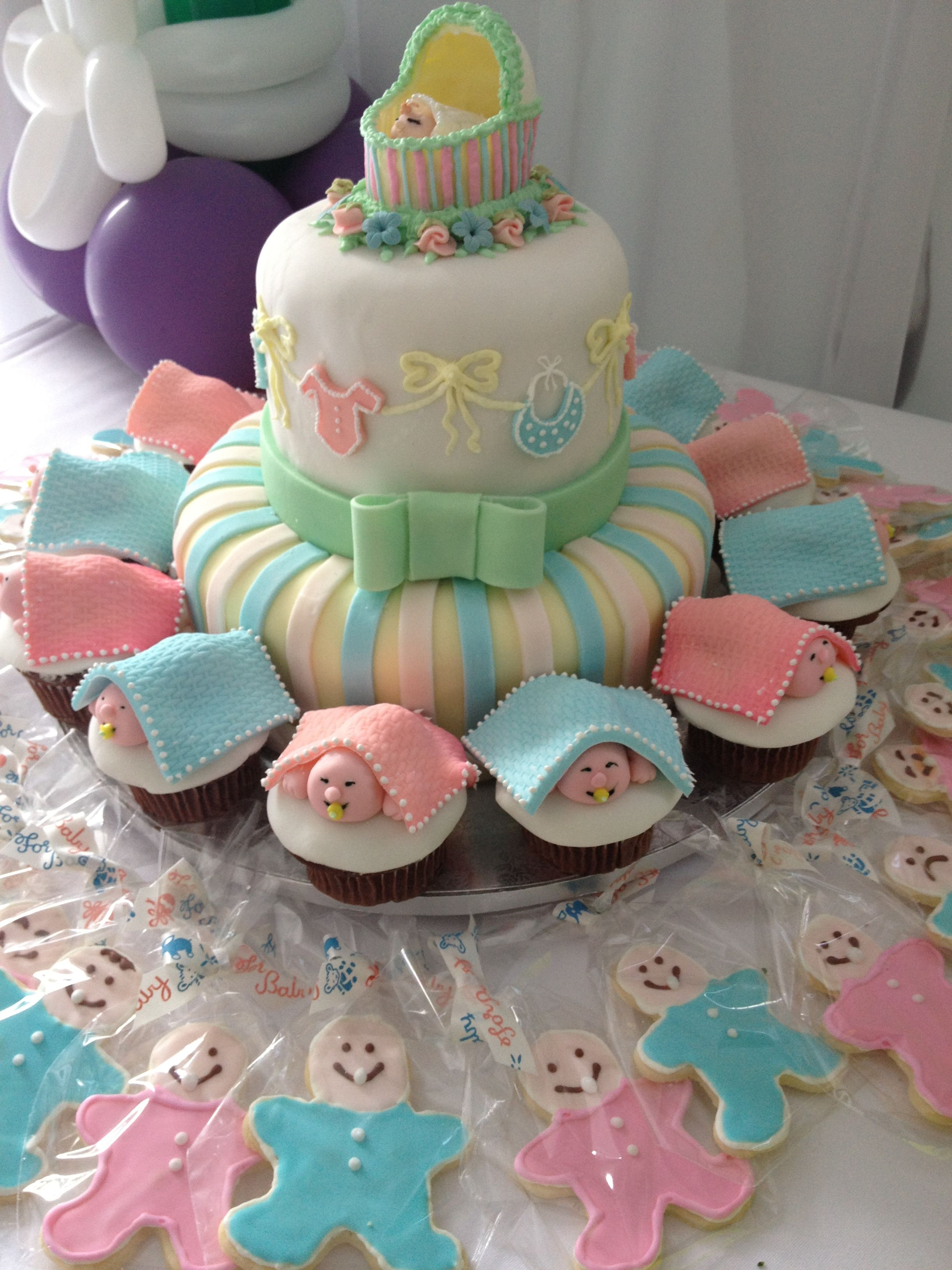 Baby Shower Cake Cupcakes Goldilocks Bakery Diaper Baby