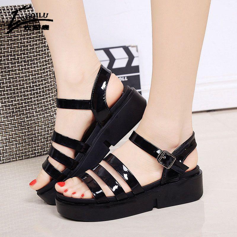 63c81d094be 2017 New Summer Women Sandals Fashion Woman Shoes Ankle Strap 2017 Summer  Wedges Sandals Women Shoes Platform Sandalia Feminina