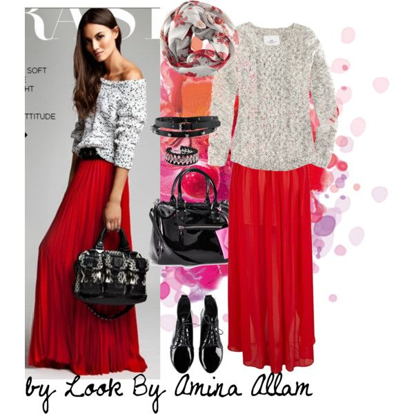 What to wear with a maxi red skirt – Modern skirts blog for you