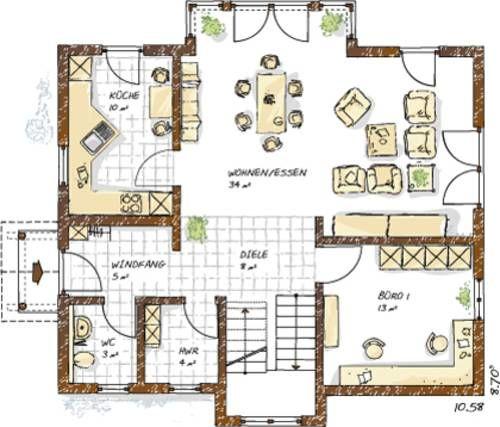 Einfamilienhaus Grundrisse von 120 150 qm | dekoideen bad selber ...
