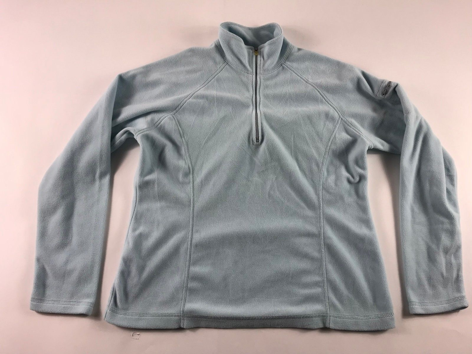 Avings ll bean womenus light blue zip up fleece jacket size s