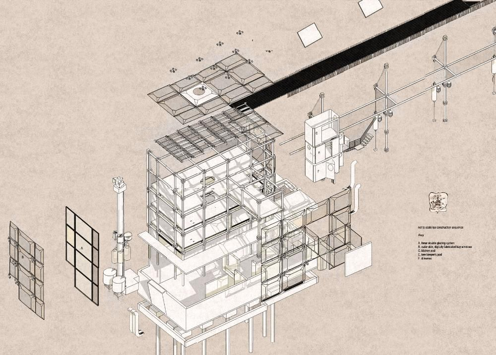 Line Drawings From D Models : The honey emporium drawing architecture draw