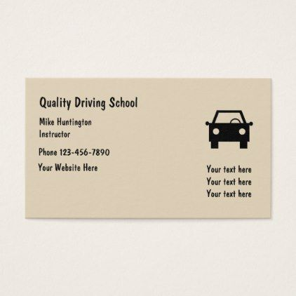 Simple Driving School Instructor Business Card Zazzle Com Driving School Business Cards Simple Business Card Modern
