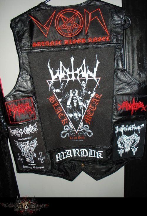 The metal/crust vest, aka the battle jacket, is something ...