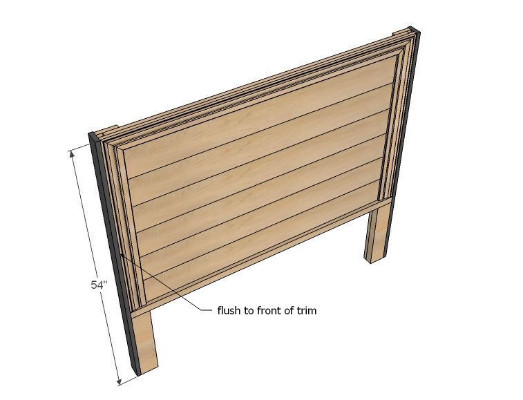 Cool Hailey Planked Headboard Diy Full Size Headboard Full Dailytribune Chair Design For Home Dailytribuneorg