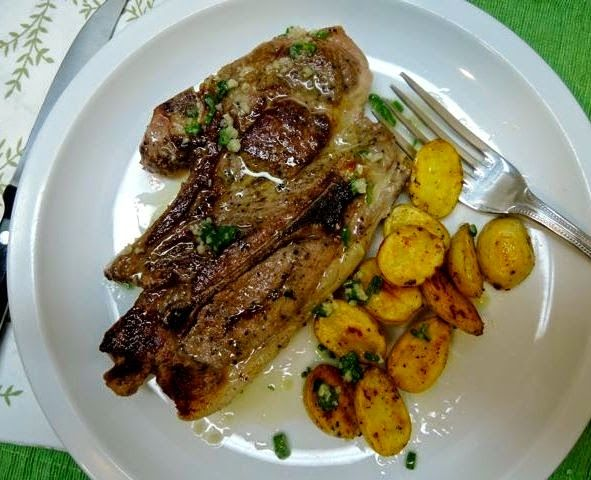 The Briny Lemon: Pan-Seared Lamb Chops with Baby Potatoes