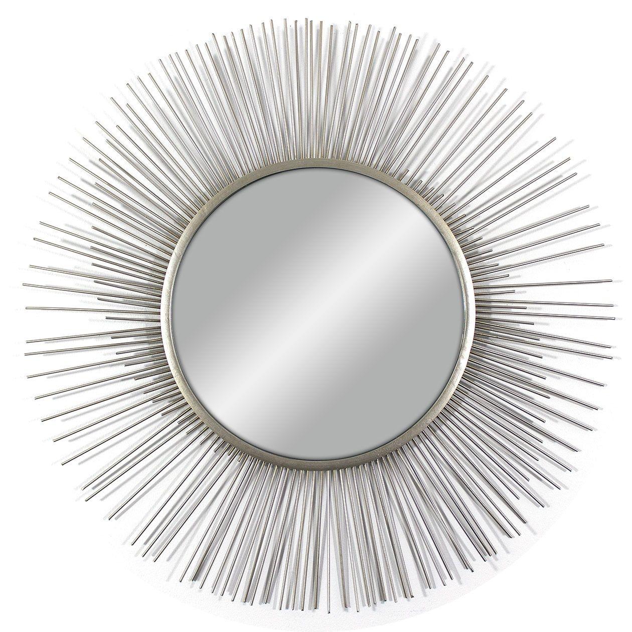 Decor Therapy Silvertone Metal Wire Spoke Mirror (Silver) | Metals ...