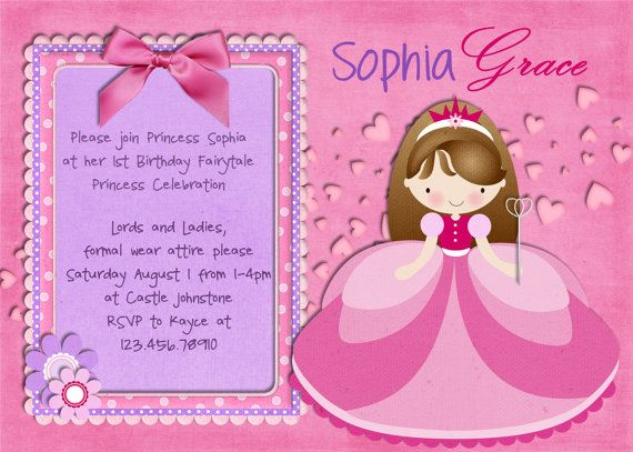 My turning 3yearold wants a pink and sparkly birthday this – 3 Year Old Birthday Invitation