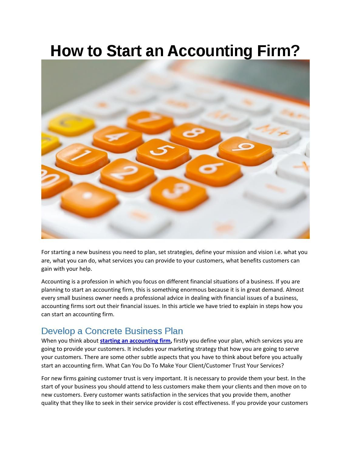 start Accounting firm   Newspaper and Digital