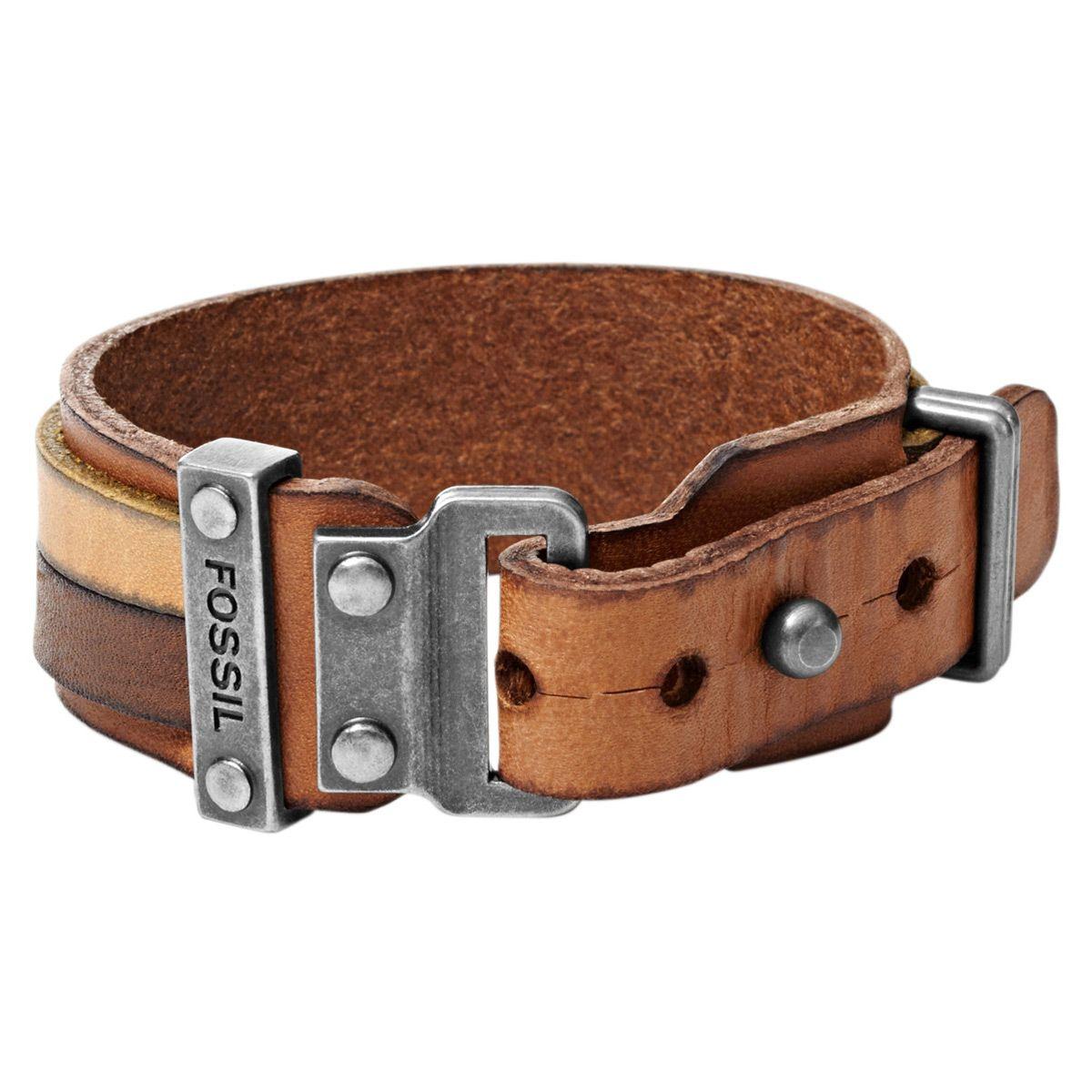Fossil Mens Brown Bracelet JF01340040