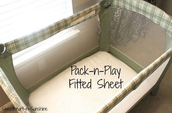 Minky Fitted Pack-n-Play/ Play Yard Sheet- YOU PICK COLOR. $22.50, via Etsy.