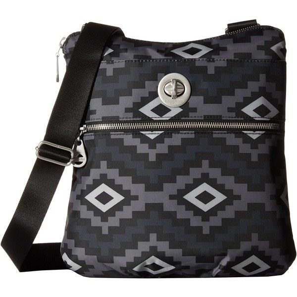 Baggallini Hanover Crossbody (Aztec Black) Cross Body Handbags ($48) ❤ liked on Polyvore featuring bags, handbags, shoulder bags, black, nylon handbags, crossbody handbags, baggallini handbags, hand bags and shoulder handbags