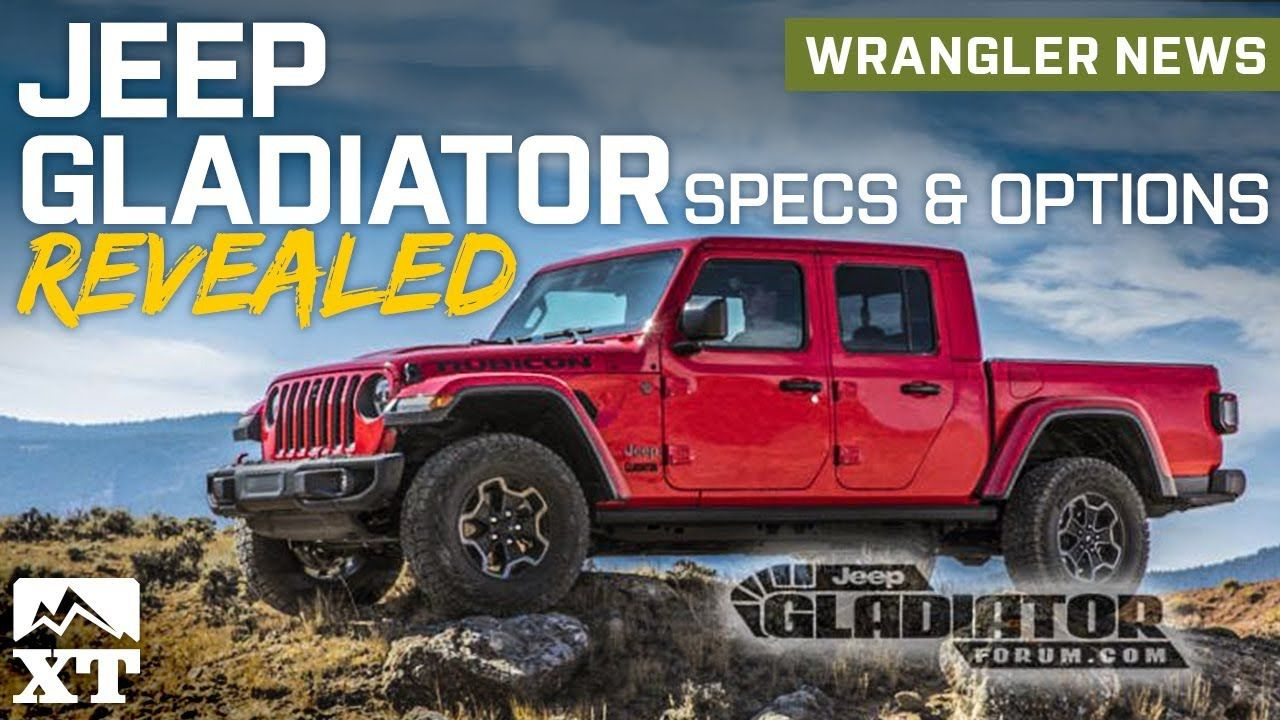Jeep Gladiator Pickup Truck Revealed Full Specs And Option