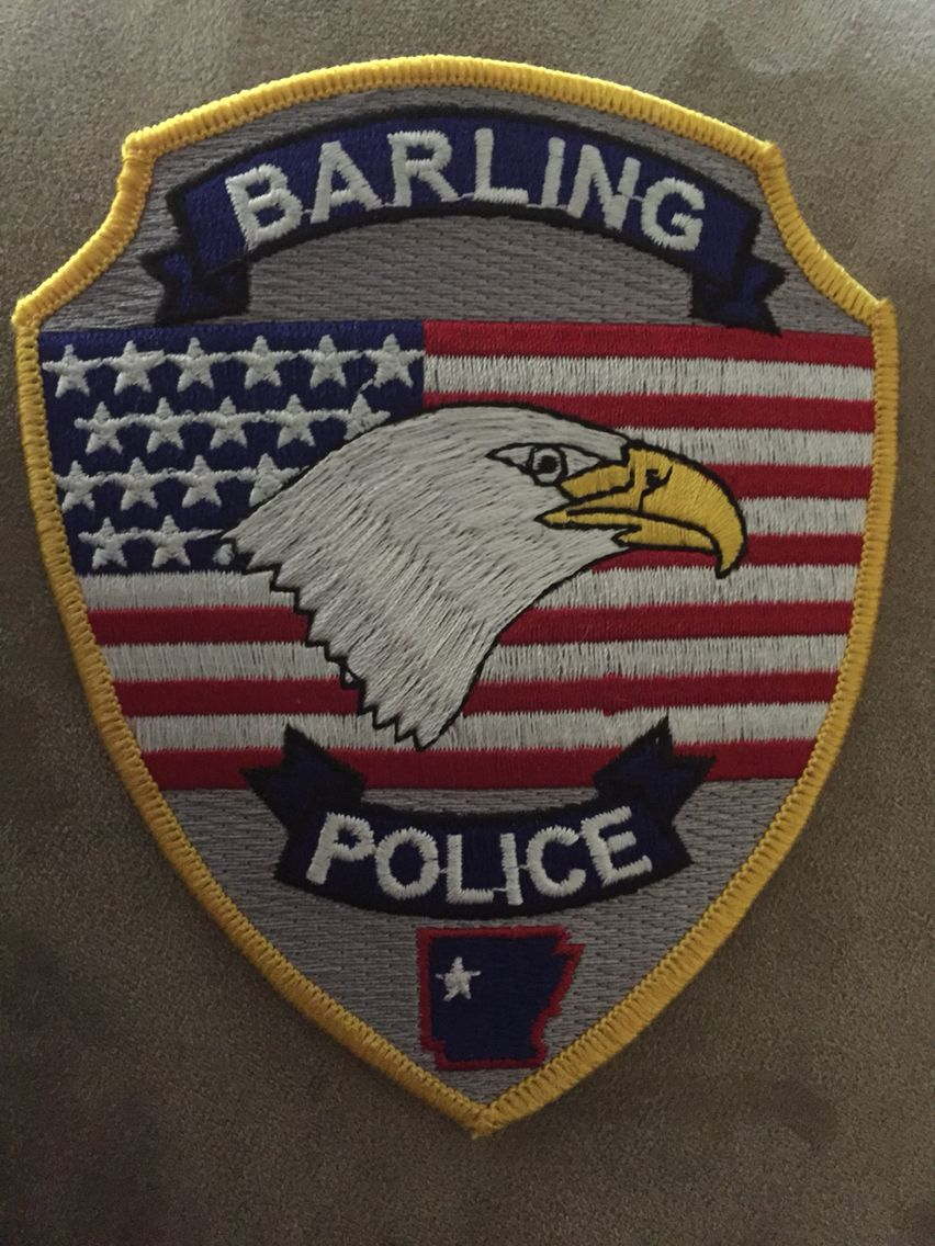 Barling PD Police patches, Barling, Police