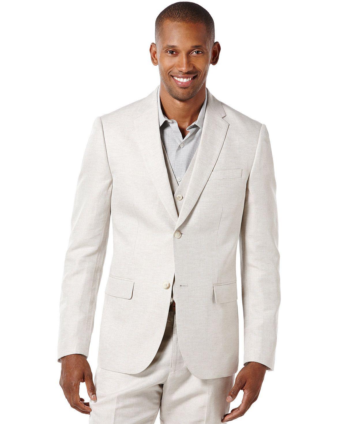 Perry Ellis Men's Linen Suit Jacket   Perry ellis, Linen suit and ...