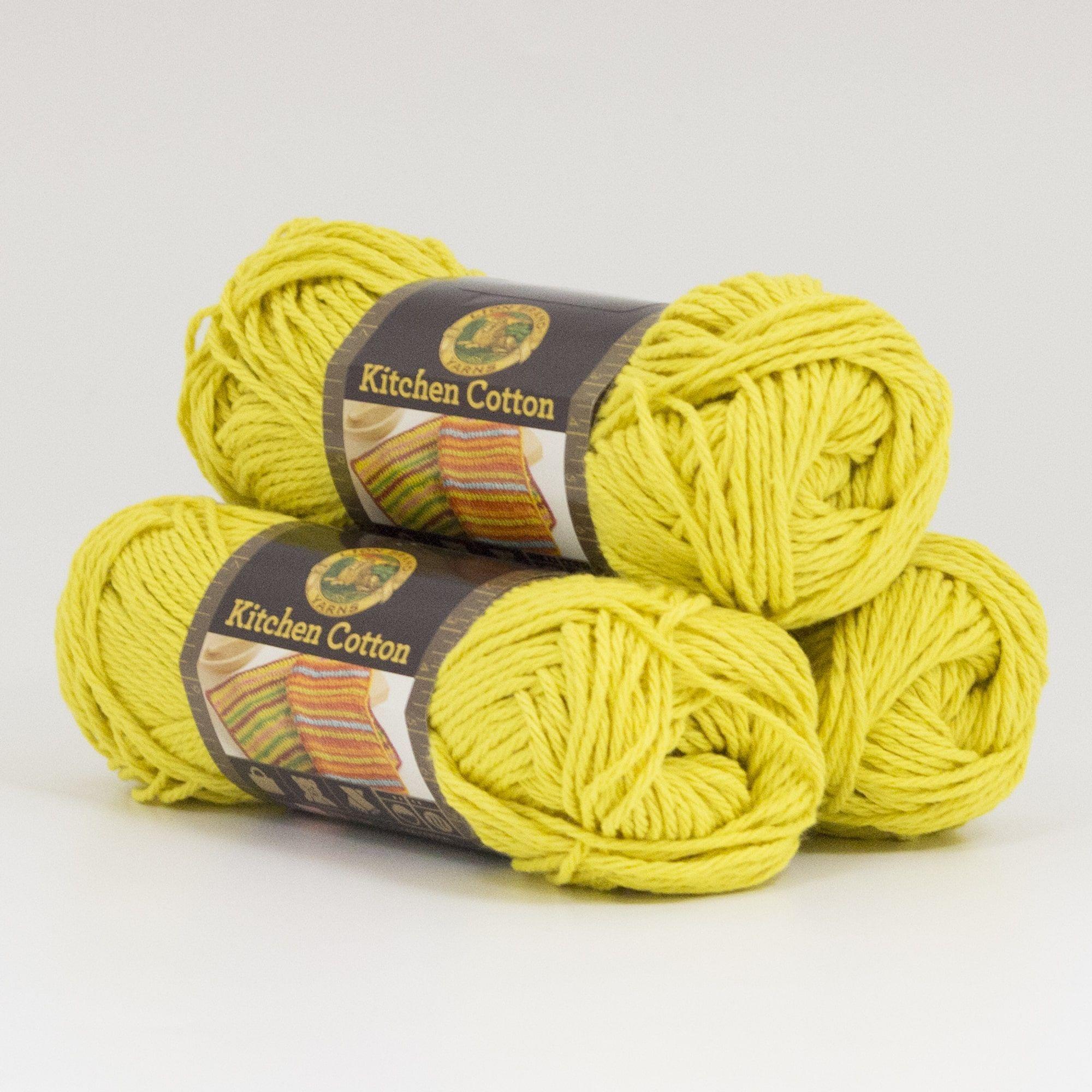 Lion Brand Yarn Kitchen Cotton Citrus 831 157 3 Pack Clic