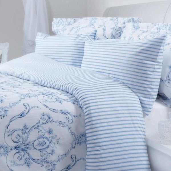 Elizabeth Blue Duvet Covers Pillowcases And Curtains Blue Duvet Blue And White Bedding Blue Duvet Cover