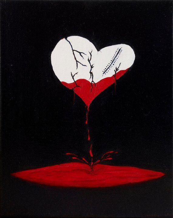 Broken heart painting