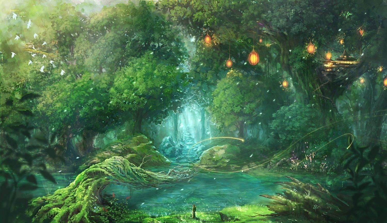 Magical Forest Wallpaper Jpg 1500 864 Fantasy Forest Fantasy Landscape Mystical Forest