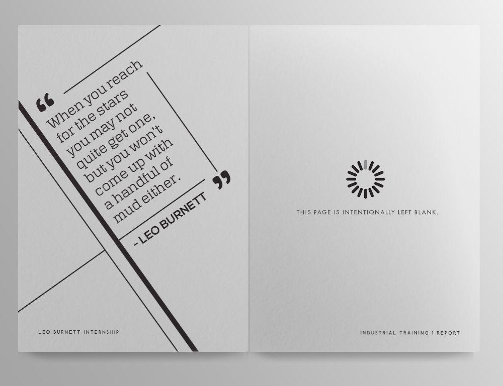 Inspiration  Internship Report    Report Design And