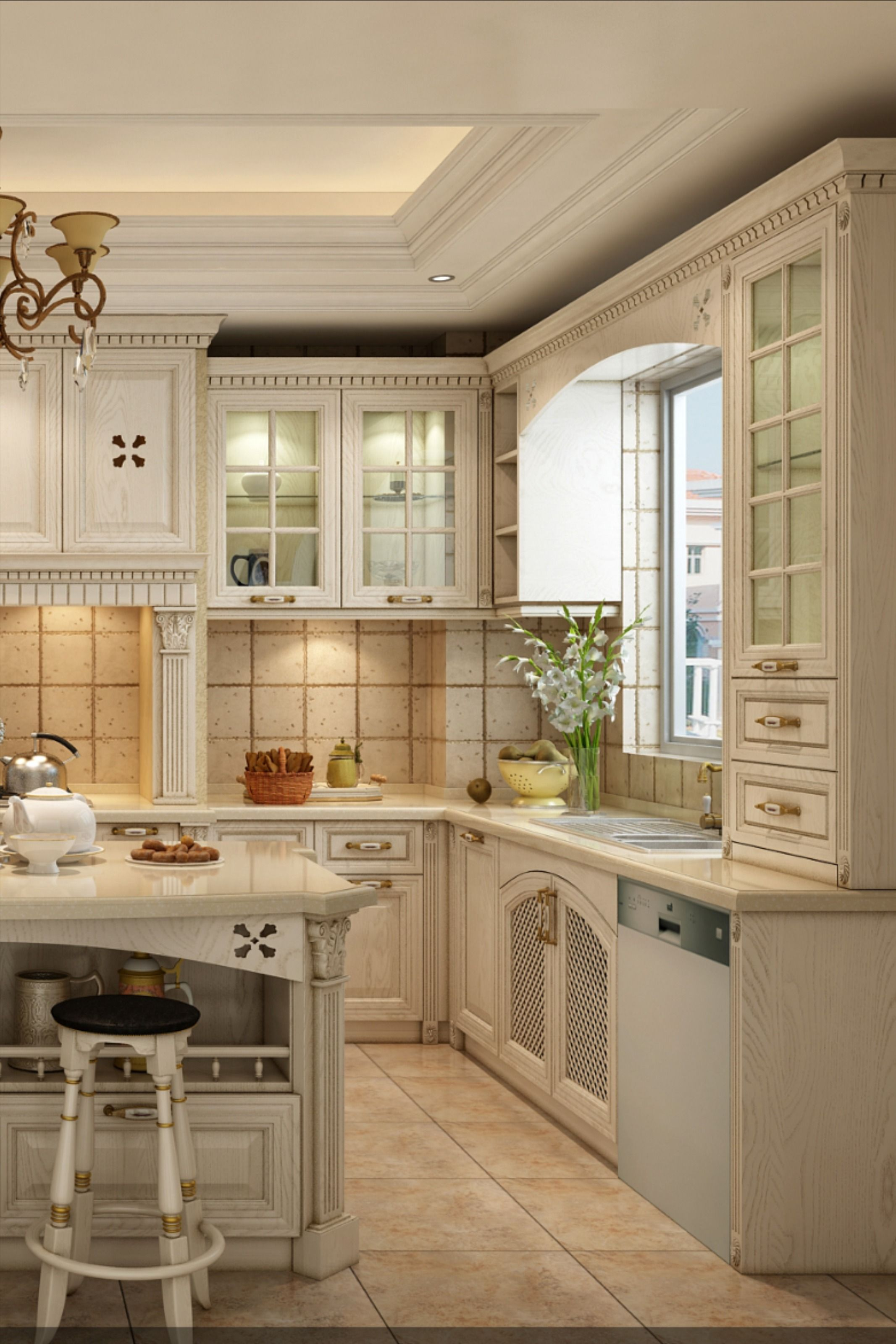 Classic Solid Wood Kitchen Cabinet In 2020 Wood Kitchen Cabinets Kitchen Solid Wood Kitchen Cabinets