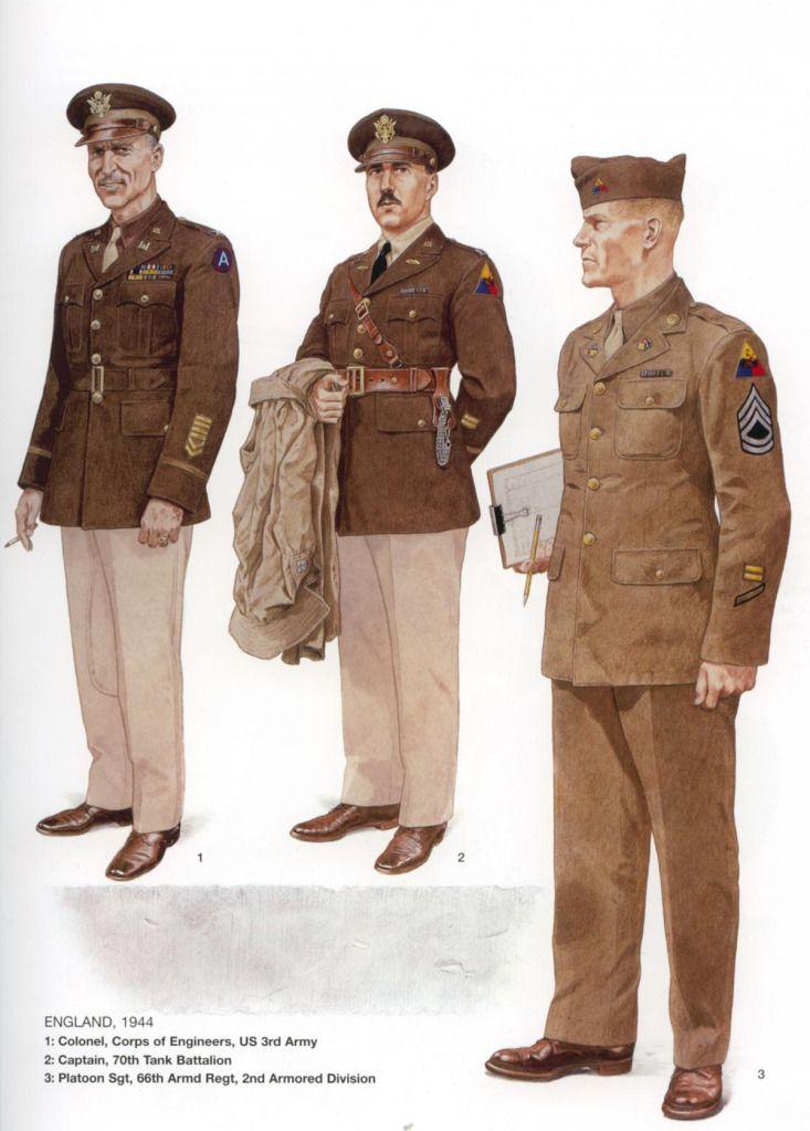 U.S.ARMY, ENGLAND, 1944 - 1 Colonel, Corps of Engineers, U ...
