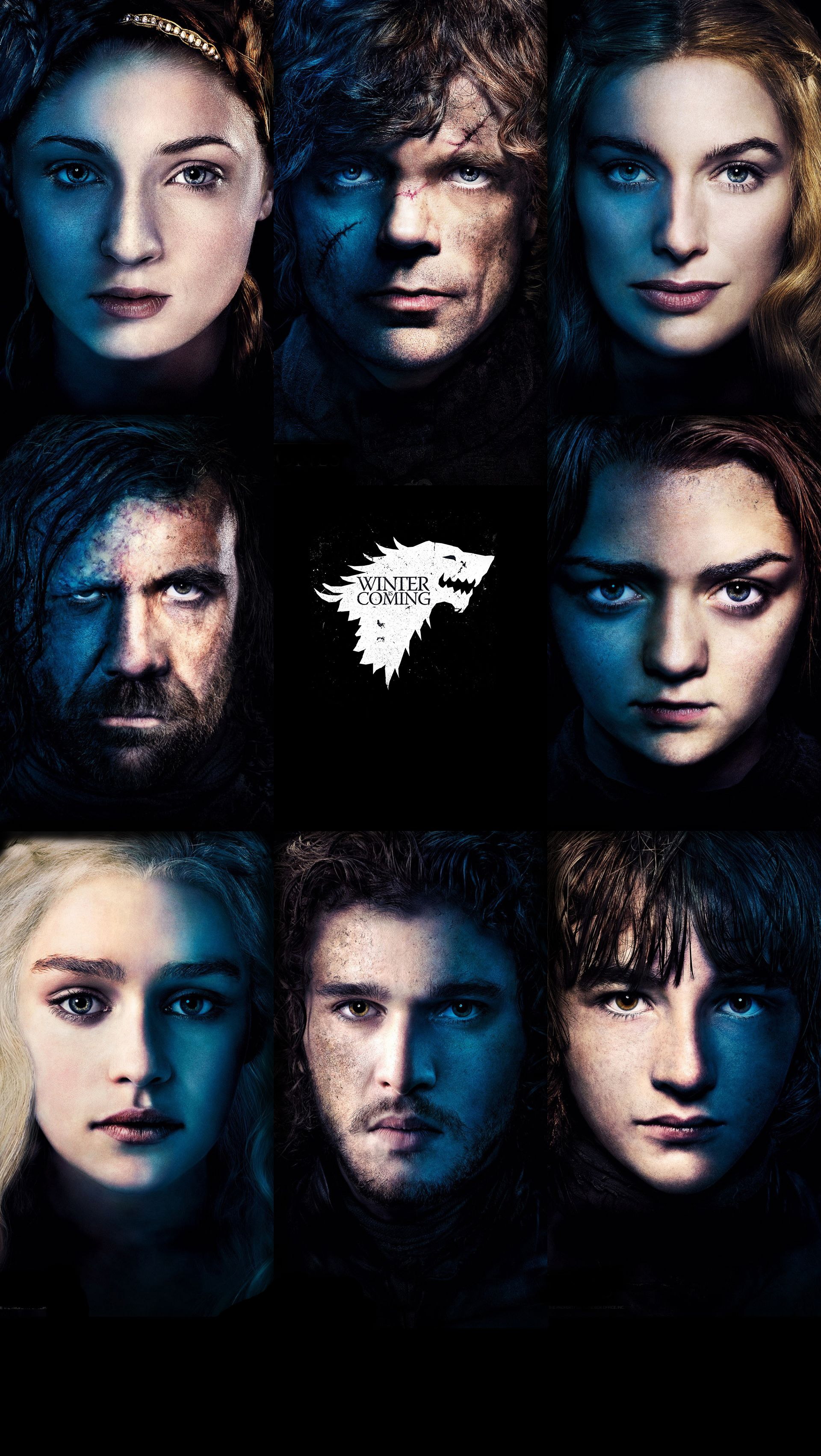 Game Of Thrones Iphone 5 5s 5c Wallpaper Wolf Stark Sansa Jon