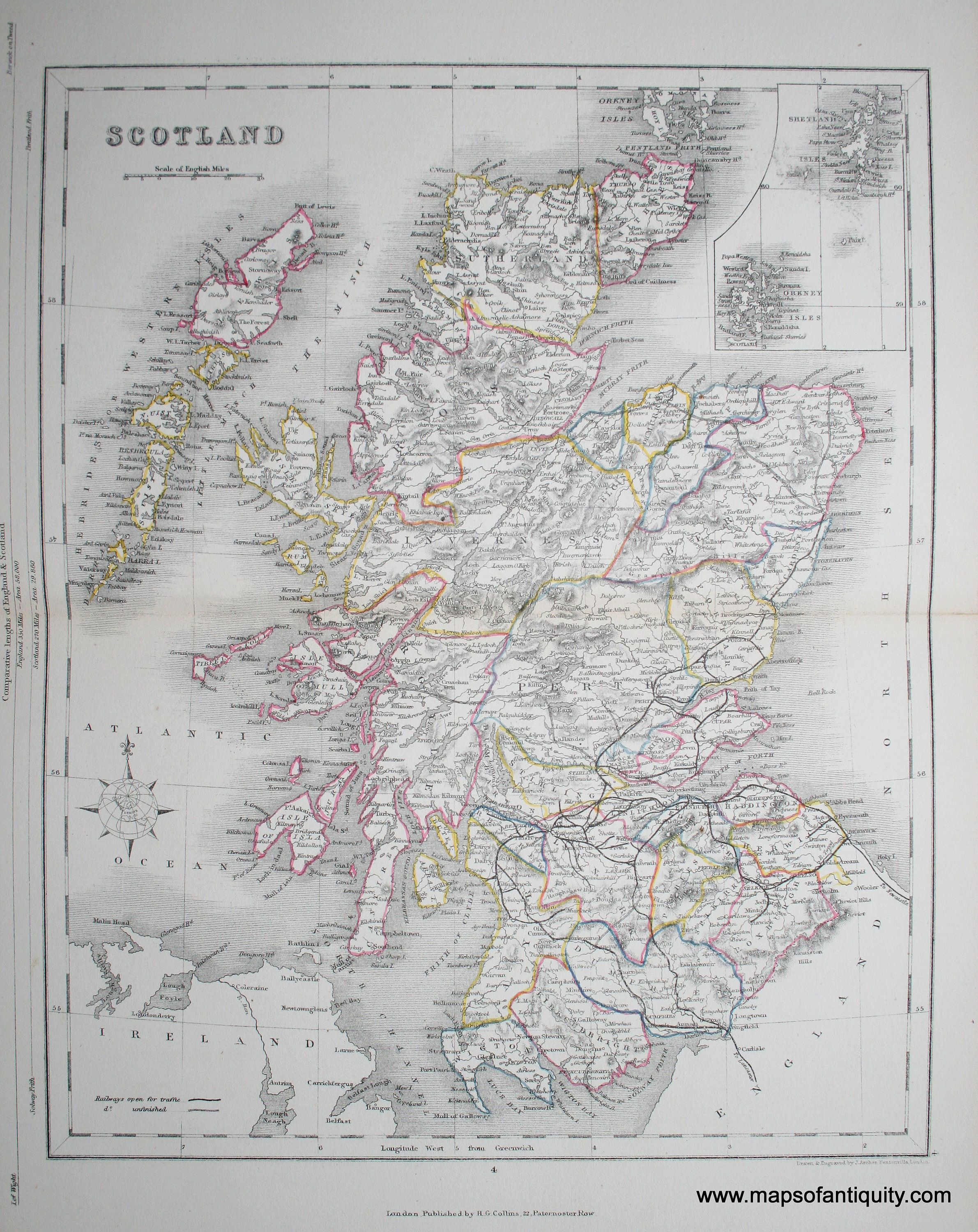 Scotland antique maps and charts original vintage rare scotland antique maps and charts original vintage rare historical antique maps publicscrutiny Image collections