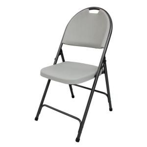 Hdx Earth Tan Plastic Seat Outdoor Safe Folding Chair 1742