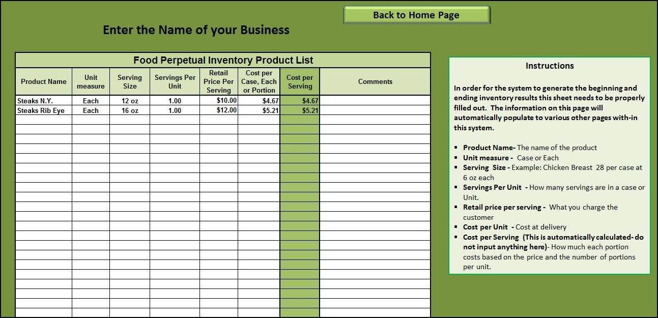 Restaurant Inventory Spreadsheet Download Spreadsheet Template Spreadsheet Inventory